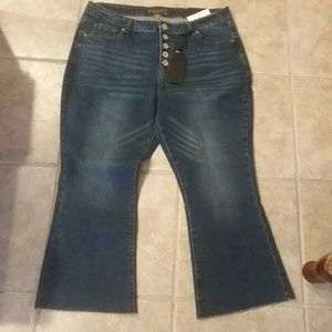 NWT High Rise/Crop Flare 18 Jeans Final Price